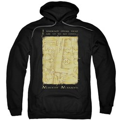 Harry Potter - Mens Marauders Map Interior Words Pullover Hoodie