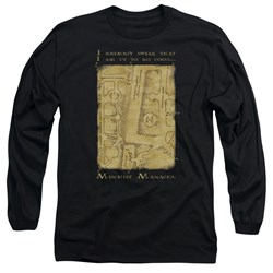 Harry Potter - Mens Marauders Map Interior Words Long Sleeve T-Shirt