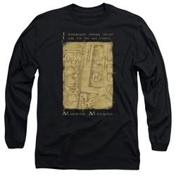 Harry Potter - Mens Marauders Map Interior Words Long Sleeve T-Shirt