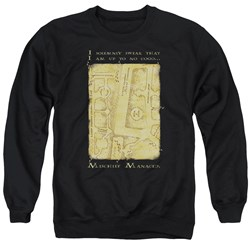 Harry Potter - Mens Marauders Map Interior Words Sweater