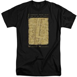 Harry Potter - Mens Marauders Map Interior Words Tall T-Shirt