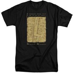 Harry Potter - Mens Marauders Map Interior Words Tall T-Shirt
