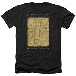 Harry Potter - Mens Marauders Map Interior Words Heather T-Shirt