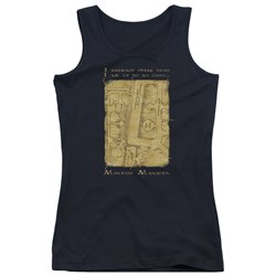 Harry Potter - Juniors Marauders Map Interior Words Tank Top