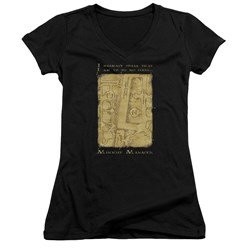 Harry Potter - Juniors Marauders Map Interior Words V-Neck T-Shirt
