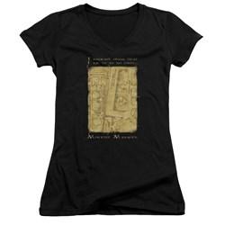 Harry Potter - Juniors Marauders Map Interior Words V-Neck T-Shirt