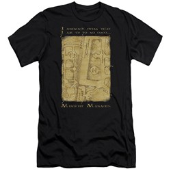 Harry Potter - Mens Marauders Map Interior Words Premium Slim Fit T-Shirt