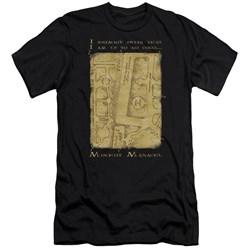 Harry Potter - Mens Marauders Map Interior Words Premium Slim Fit T-Shirt