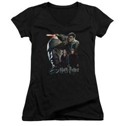 Harry Potter - Juniors Final Fight V-Neck T-Shirt