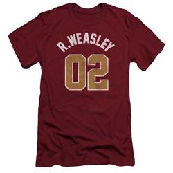 Harry Potter - Mens Weasley Jersey Slim Fit T-Shirt
