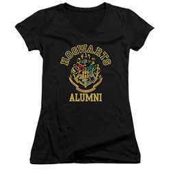 Harry Potter - Juniors Hogwarts Alumni V-Neck T-Shirt