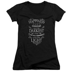 Harry Potter - Juniors Happiness V-Neck T-Shirt