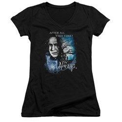 Harry Potter - Juniors Always V-Neck T-Shirt