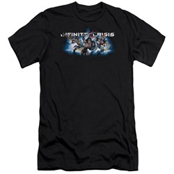 Infinite Crisis - Mens Ic Blue Premium Slim Fit T-Shirt