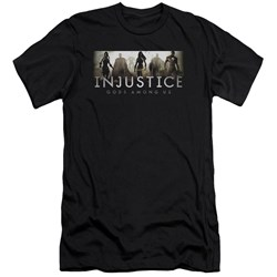 Injustice Gods Among Us - Mens Logo Premium Slim Fit T-Shirt