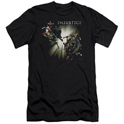 Injustice Gods Among Us - Mens Good Vs Evils Premium Slim Fit T-Shirt