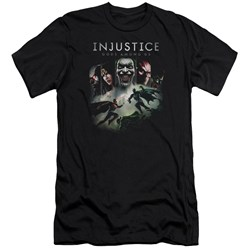Injustice Gods Among Us - Mens Key Art Premium Slim Fit T-Shirt
