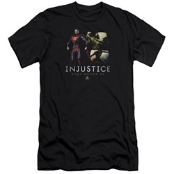 Injustice Gods Among Us - Mens Supermans Revenge Premium Slim Fit T-Shirt