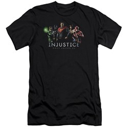 Injustice Gods Among Us - Mens Injustice League Premium Slim Fit T-Shirt