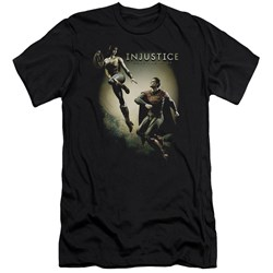 Injustice Gods Among Us - Mens Battle Of The Gods Premium Slim Fit T-Shirt