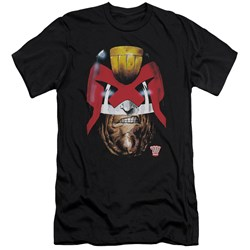 Judge Dredd - Mens Dredds Head Premium Slim Fit T-Shirt