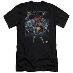 Judge Dredd - Mens Behind You Premium Slim Fit T-Shirt
