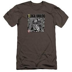 Judge Dredd - Mens Fenced Premium Slim Fit T-Shirt