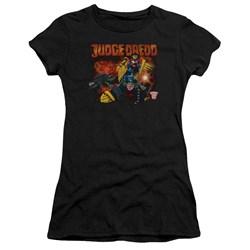 Judge Dredd - Juniors Through Fire Premium Bella T-Shirt