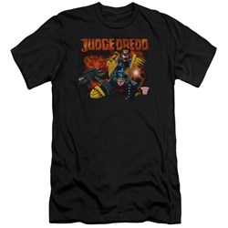 Judge Dredd - Mens Through Fire Premium Slim Fit T-Shirt