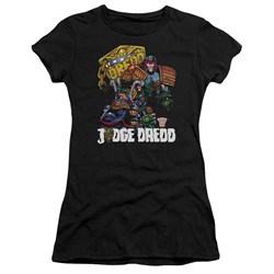 Judge Dredd - Juniors Bike And Badge Premium Bella T-Shirt