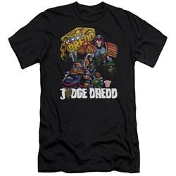 Judge Dredd - Mens Bike And Badge Premium Slim Fit T-Shirt