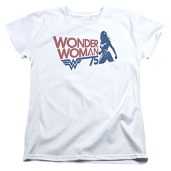 Wonder Woman - Womens Ww75 Silhouette T-Shirt