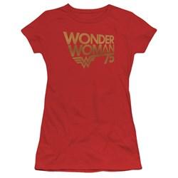 Wonder Woman - Juniors Wonder Woman 75Th Anniversary Gold Logo T-Shirt
