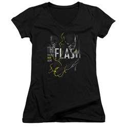 Dc Flash - Juniors Bold Flash V-Neck T-Shirt