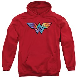 Wonder Woman - Mens Wonder Woman Tie Dye Logo Pullover Hoodie