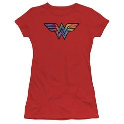 Wonder Woman - Juniors Wonder Woman Tie Dye Logo T-Shirt