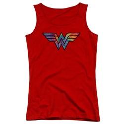 Wonder Woman - Juniors Wonder Woman Tie Dye Logo Tank Top