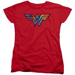 Wonder Woman - Womens Wonder Woman Tie Dye Logo T-Shirt