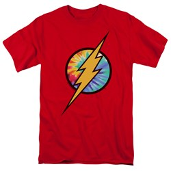 Dc Flash - Mens Tie Dye Flash Logo T-Shirt