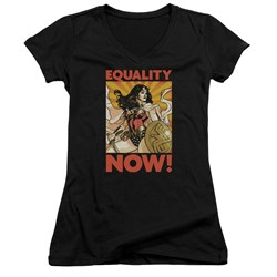 Wonder Woman - Juniors Now V-Neck T-Shirt