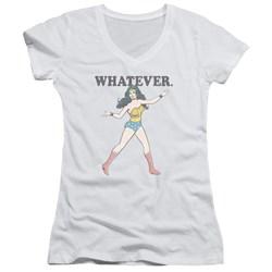 Wonder Woman - Juniors Whatever V-Neck T-Shirt