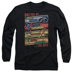 Jla - Mens A True Hero Long Sleeve T-Shirt