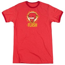Dc Flash - Mens Flash Chibi Ringer T-Shirt