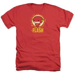 Dc Flash - Mens Flash Chibi Heather T-Shirt