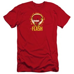 Dc Flash - Mens Flash Chibi Premium Slim Fit T-Shirt