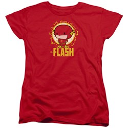 Dc Flash - Womens Flash Chibi T-Shirt