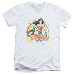 Wonder Woman - Mens Wonder Airbrush V-Neck T-Shirt