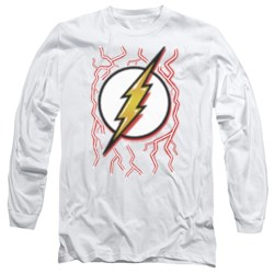 Dc Flash - Mens Airbrush Bolt Long Sleeve T-Shirt