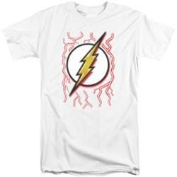 Dc Flash - Mens Airbrush Bolt Tall T-Shirt