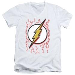 Dc Flash - Mens Airbrush Bolt V-Neck T-Shirt